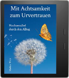 Cover von Achtsam zum Urvertrauen auf einem Tablet